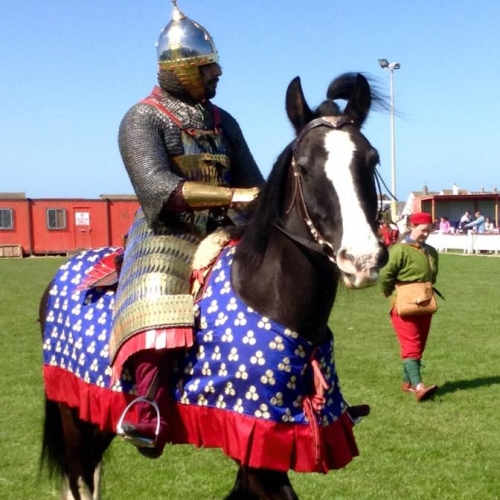 Sogdian cavalry, taken at Prestatyn, 2015. With thanks to Autonomous Reenactor Collective for hosting us at the event and providing the mount
